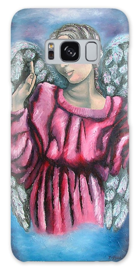 Angel Galaxy S8 Case featuring the painting Angel Of Hope by Elizabeth Lisy Figueroa