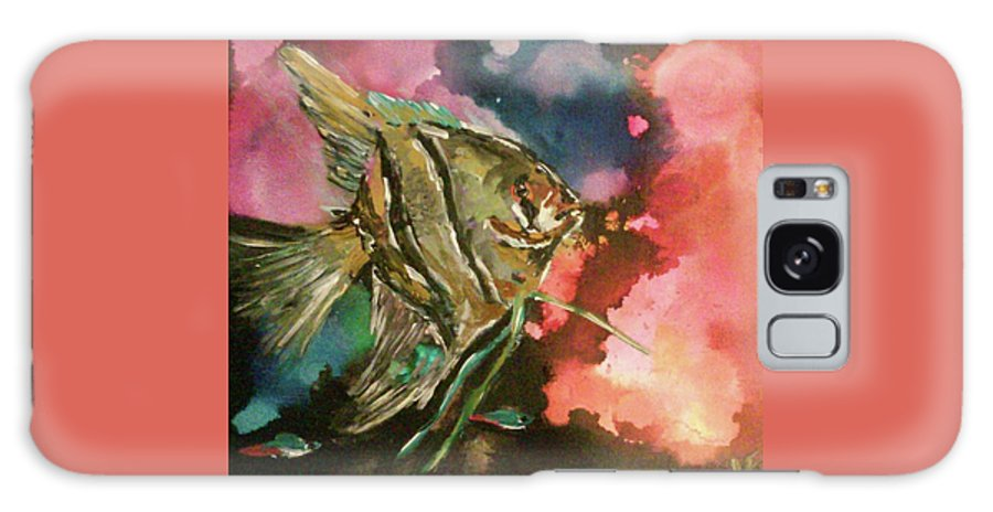 Fish Angel Water Ocean Tropical Galaxy S8 Case featuring the painting Angel Of The Sea by Jen Saemann