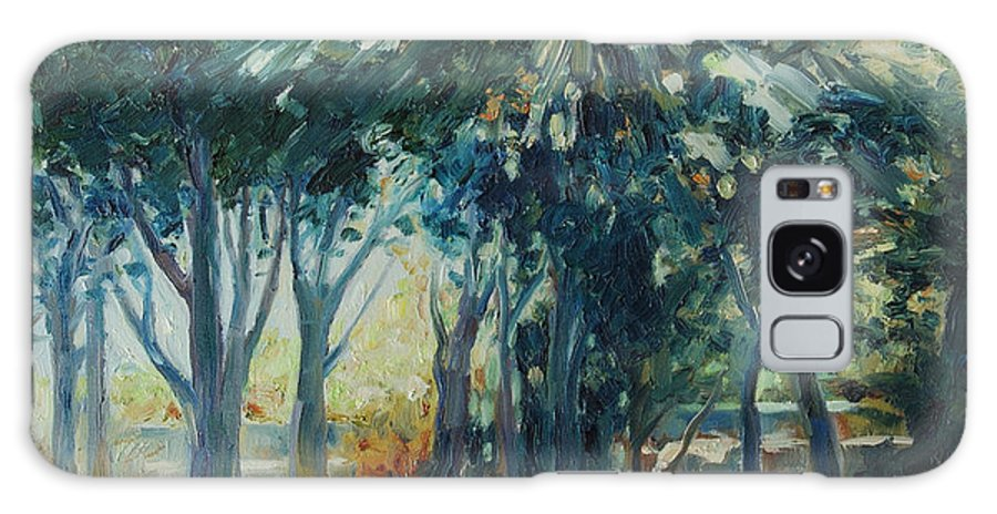 Trees Galaxy Case featuring the painting Angel Rays by Rick Nederlof