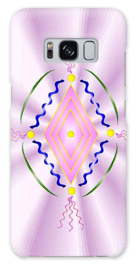 Angel Galaxy S8 Case featuring the digital art Angelic Code - Sacred Symbol Of Love by Konstadina Sadoriniou
