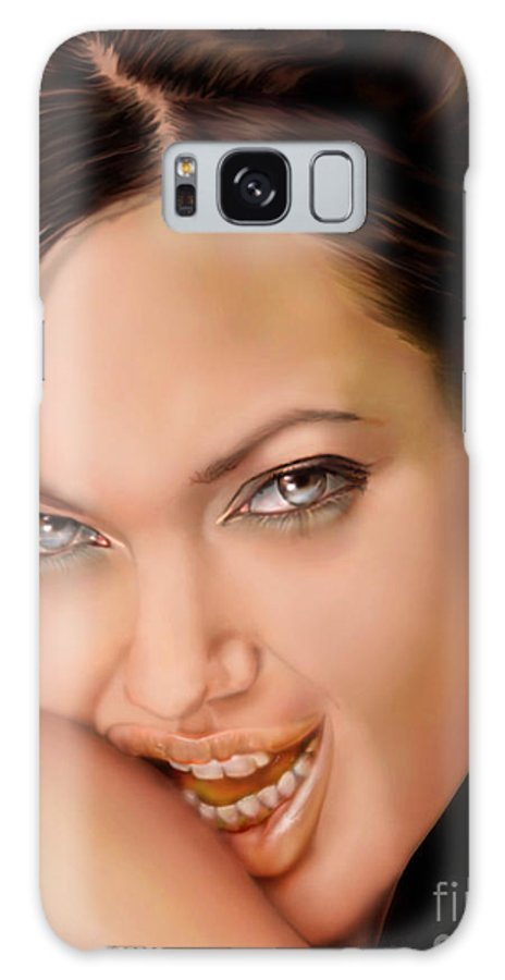 Actress Galaxy S8 Case featuring the painting Angelina Jolie - Cold Seduction by Reggie Duffie