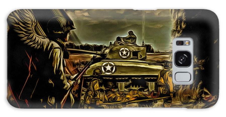 Soldier Galaxy S8 Case featuring the digital art Angels On The Battlefield - Oil by Tommy Anderson