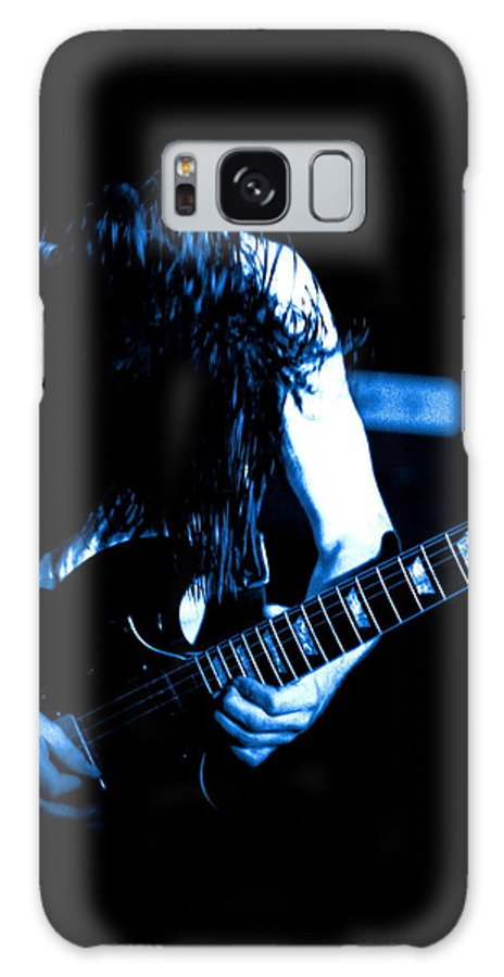 Ac Dc Galaxy S8 Case featuring the photograph Angus Young On Guitar by Ben Upham