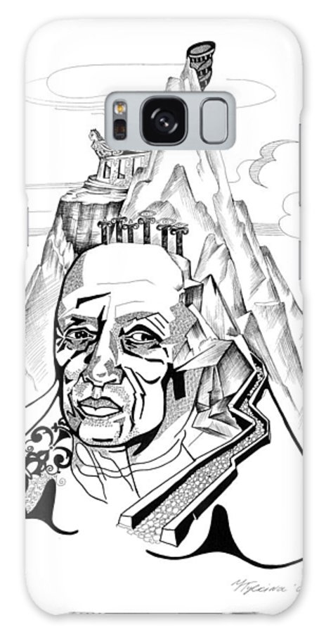 Portrait Galaxy S8 Case featuring the drawing Anna Tylkina by Yelena Tylkina