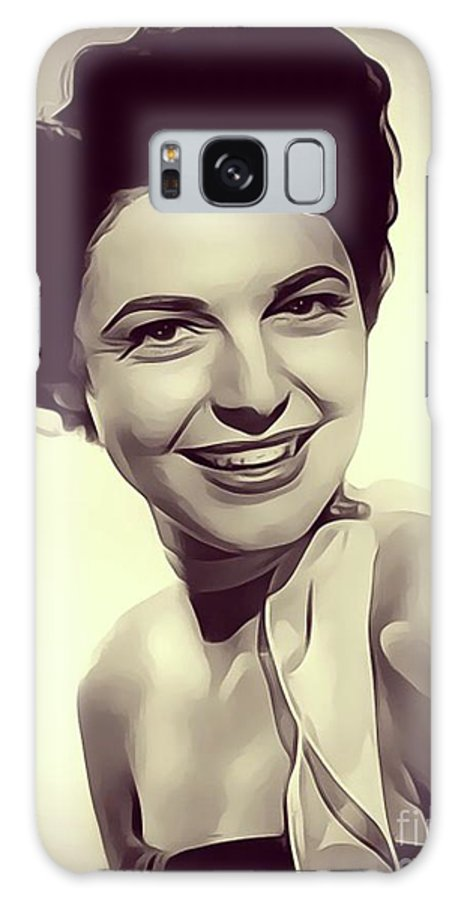 Anne Galaxy S8 Case featuring the digital art Anne Bancroft, Vintage Actress by John Springfield