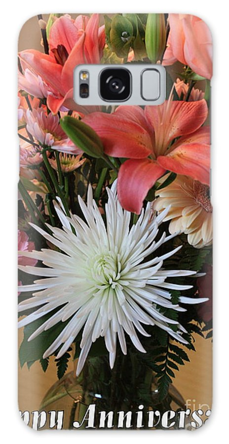 Bouquet Galaxy S8 Case featuring the photograph Anniversary Card by Carol Groenen