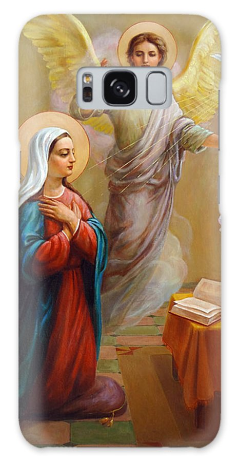 Annunciation Galaxy S8 Case featuring the painting Annunciation To The Blessed Virgin Mary by Svitozar Nenyuk