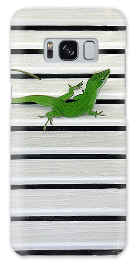 Nature Galaxy S8 Case featuring the photograph Anole Shuttered Out by Lucyna A M Green