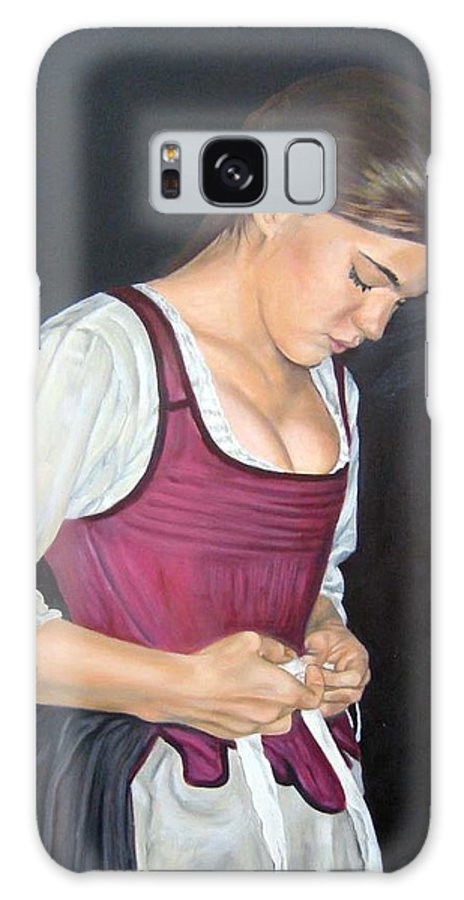 Portrait Galaxy Case featuring the painting Another Day by Anne Kushnick