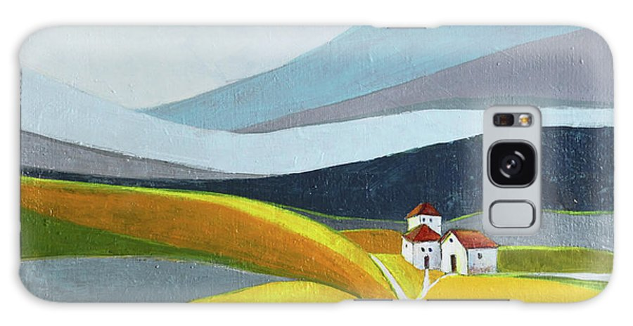 Landscape Galaxy S8 Case featuring the painting Another Day On The Farm by Aniko Hencz