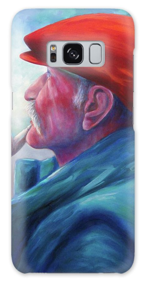 Portrait Galaxy Case featuring the painting Another Side of St. Francis by Shannon Grissom
