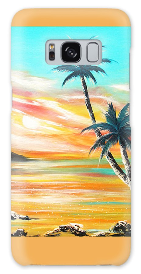 Sunset Galaxy S8 Case featuring the painting Another Sunset In Paradise by Gina De Gorna
