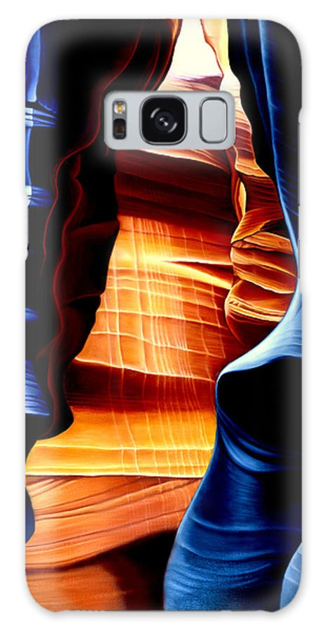 Landscape Galaxy Case featuring the painting Antelope Canyon by Anni Adkins