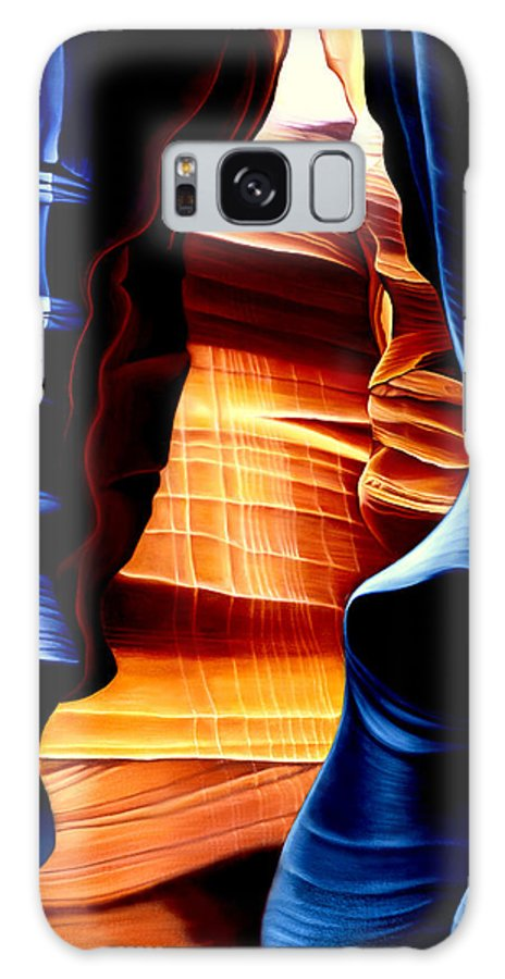 Landscape Galaxy S8 Case featuring the painting Antelope Canyon by Anni Adkins