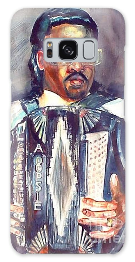 Accordian Galaxy S8 Case featuring the painting Anthony by Beverly Boulet