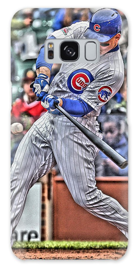Anthony Rizzo Galaxy Case featuring the painting Anthony Rizzo Chicago Cubs by Joe Hamilton