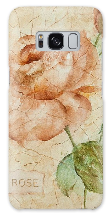 Rose Galaxy S8 Case featuring the painting Antique Rose by Debbie Lewis