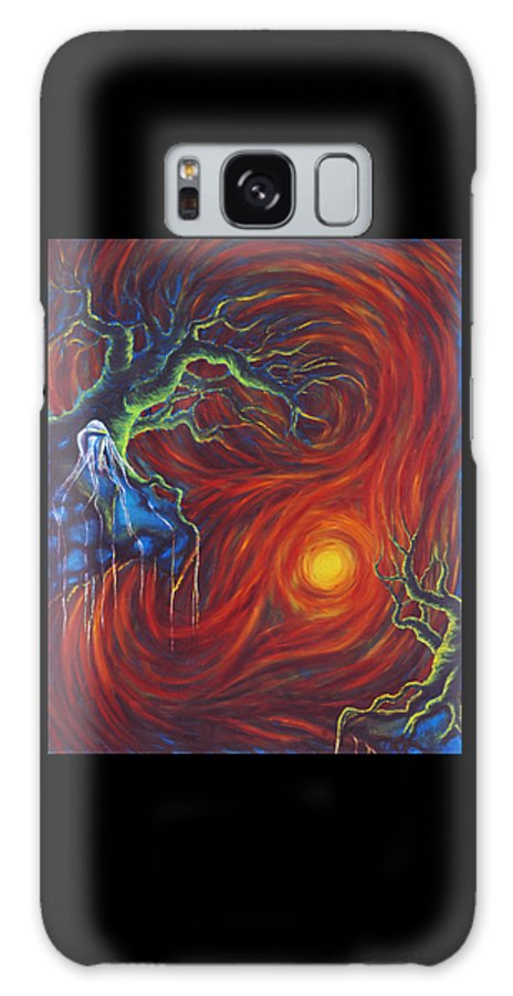 Tree Paintings Galaxy S8 Case featuring the painting Anxiety by Jennifer McDuffie