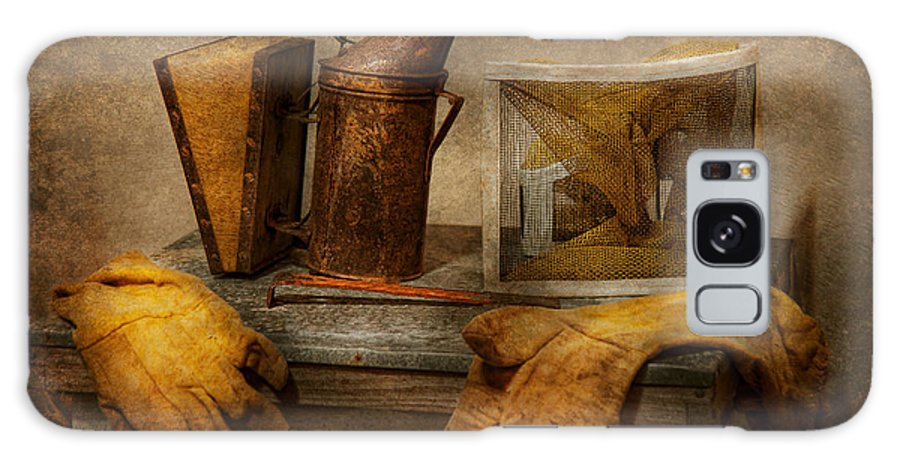 Beekeeper Galaxy S8 Case featuring the photograph Apiary - The Beekeeper by Mike Savad