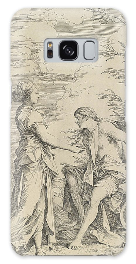 17th Century Art Galaxy S8 Case featuring the relief Apollo And The Cumaean Sibyl by Salvator Rosa