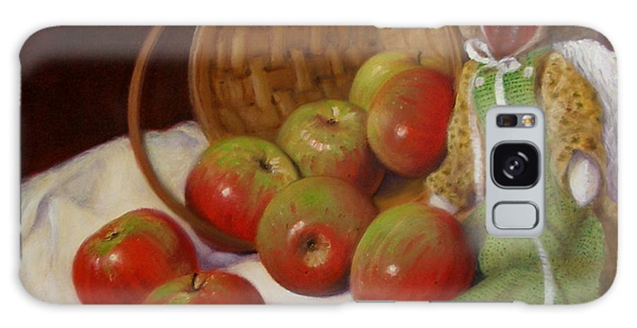 Realism Galaxy S8 Case featuring the painting Apple Annie by Donelli DiMaria