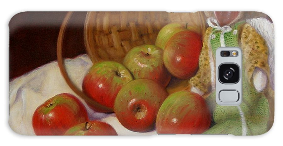 Realism Galaxy Case featuring the painting Apple Annie by Donelli DiMaria