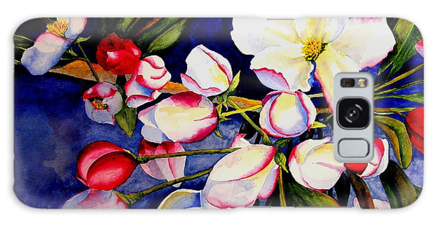 Apple Blossoms Galaxy S8 Case featuring the painting Apple Blossom Time by Karen Stark