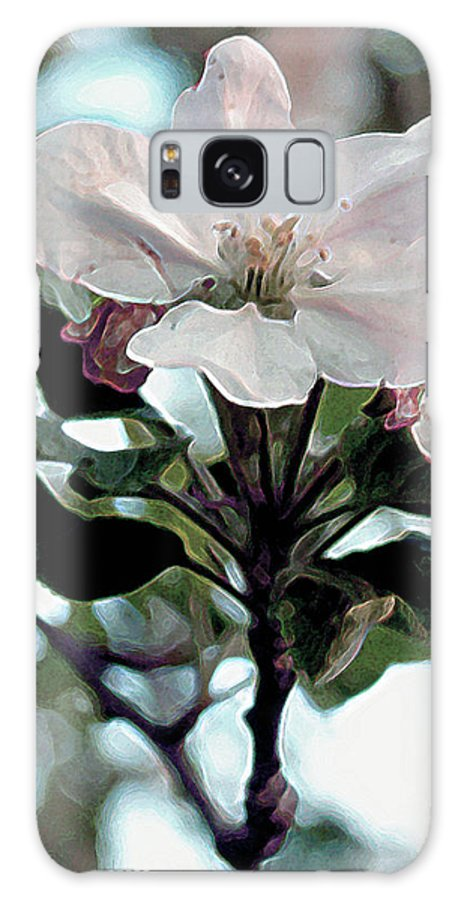 Flowers Galaxy Case featuring the painting Apple Blossom Time by RC deWinter