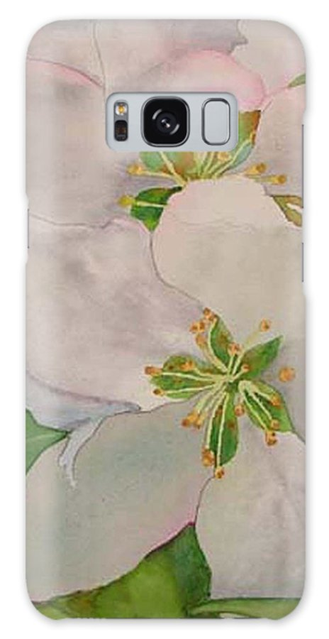 Apple Blossoms Galaxy S8 Case featuring the painting Apple Blossoms by Sharon E Allen