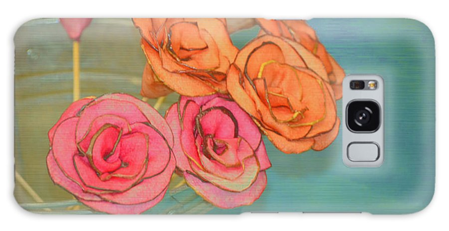 Flowers Galaxy S8 Case featuring the photograph Apple Roses by Traci Cottingham