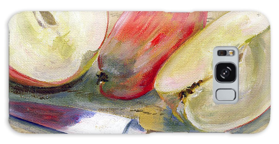 Still-life Galaxy Case featuring the painting Apple by Sarah Lynch