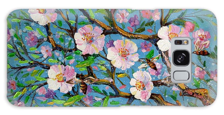 Apple Tree Blossom Galaxy S8 Case featuring the painting Apple Tree Blossom by Nadia Bykova