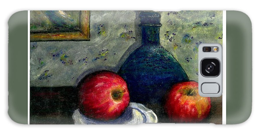 Still Life Galaxy S8 Case featuring the painting Apples And Bottles by Gail Kirtz