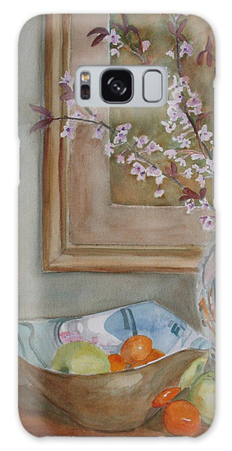 Apples Galaxy S8 Case featuring the painting Apples And Oranges by Jenny Armitage