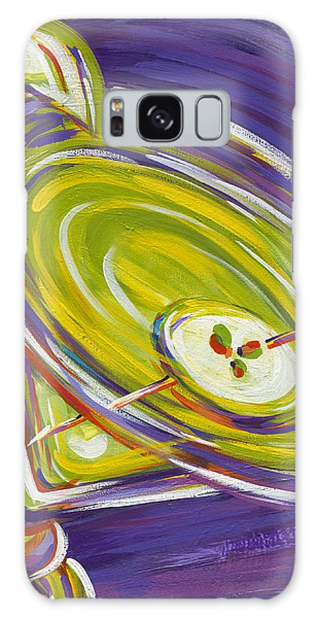 Appletini Galaxy S8 Case featuring the painting Appletini by Nanette Vacher