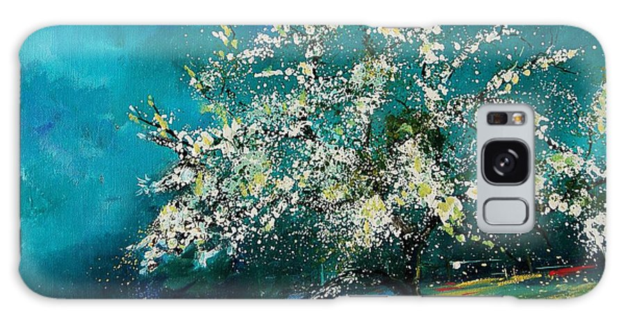 Spring Galaxy S8 Case featuring the painting Appletree In Spring by Pol Ledent