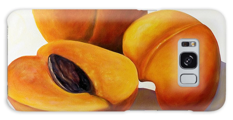 Apricots Galaxy Case featuring the painting Apricots by Shannon Grissom