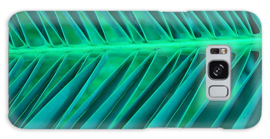 Contemporary Galaxy Case featuring the photograph Aqua Angles by Florene Welebny