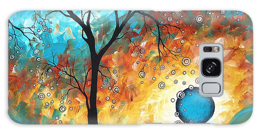 Art Galaxy Case featuring the painting Aqua Burn by MADART by Megan Duncanson