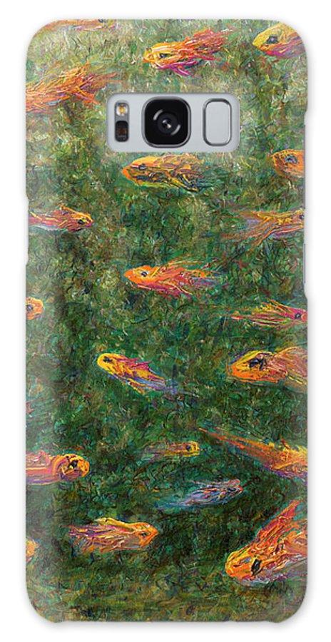 Aquarium Galaxy S8 Case featuring the painting Aquarium by James W Johnson