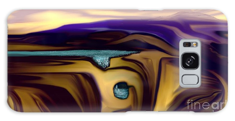 Abstract Galaxy S8 Case featuring the digital art Aquifer by David Lane