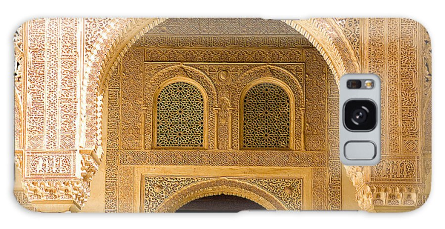Cuarto Galaxy S8 Case featuring the photograph Arabesque Ornamental Designs At The Casa Real In The Nasrid Palaces At The Alhambra by Mal Bray