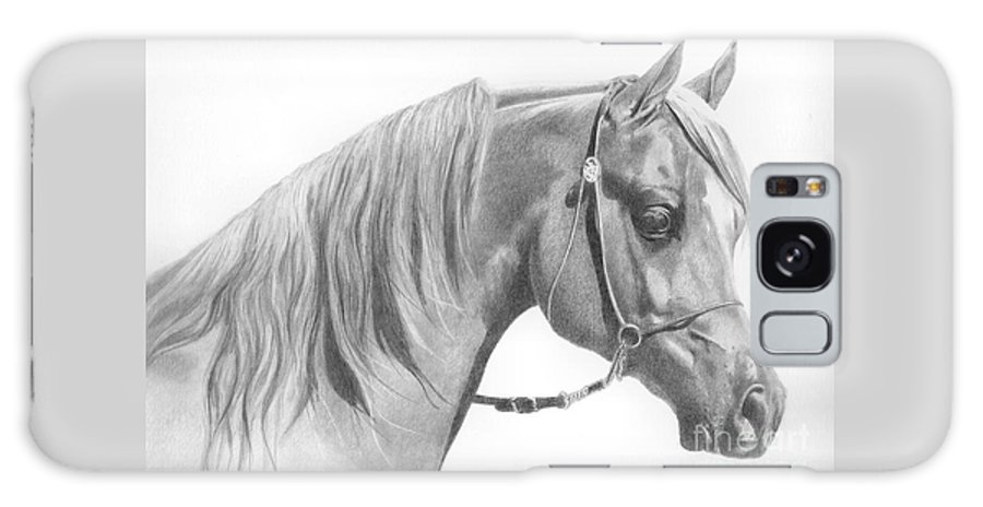 Horse Galaxy S8 Case featuring the drawing Arabian 2 by Karen Townsend