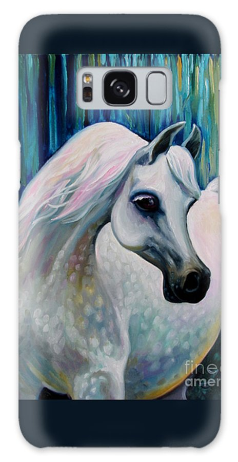 Horse Galaxy S8 Case featuring the painting Arabian Horse by Nadia Bykova