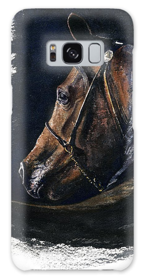Horse Galaxy Case featuring the painting Arabian by John D Benson