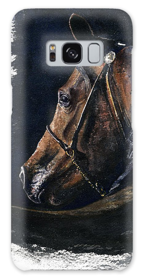 Horse Galaxy S8 Case featuring the painting Arabian by John D Benson