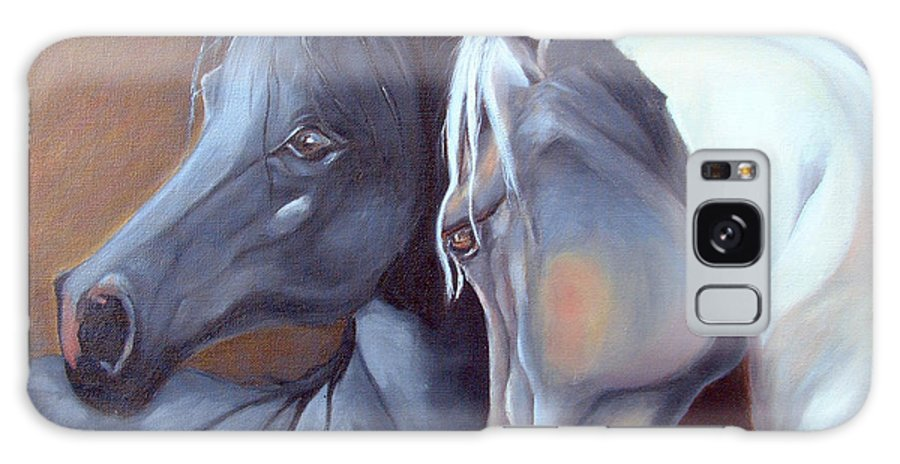 Equestrian Art Galaxy Case featuring the painting Arabique by Enzie Shahmiri