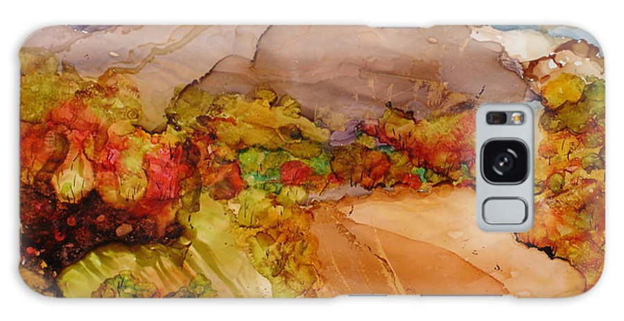 Mountain Galaxy Case featuring the painting Arcadia 2 by Susan Kubes