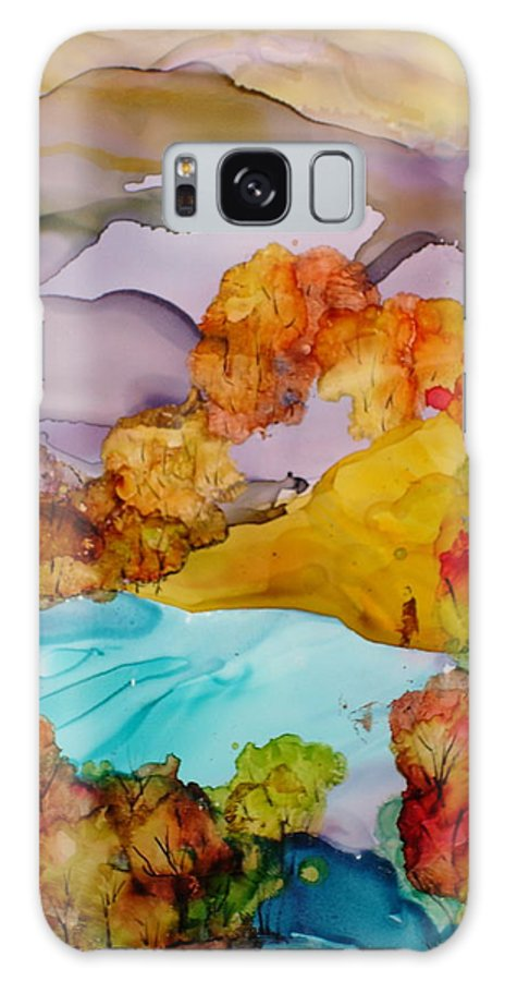 Fall Galaxy S8 Case featuring the mixed media Arcadia by Susan Kubes