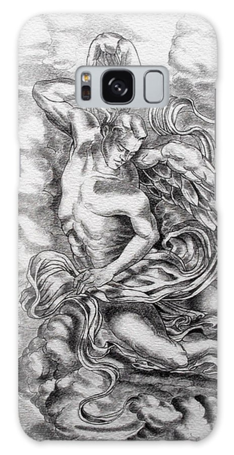 Angel Art Galaxy S8 Case featuring the drawing Arch Angel by Gary Renegar